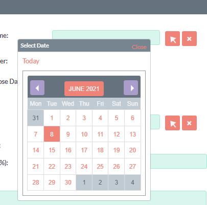 example calendar